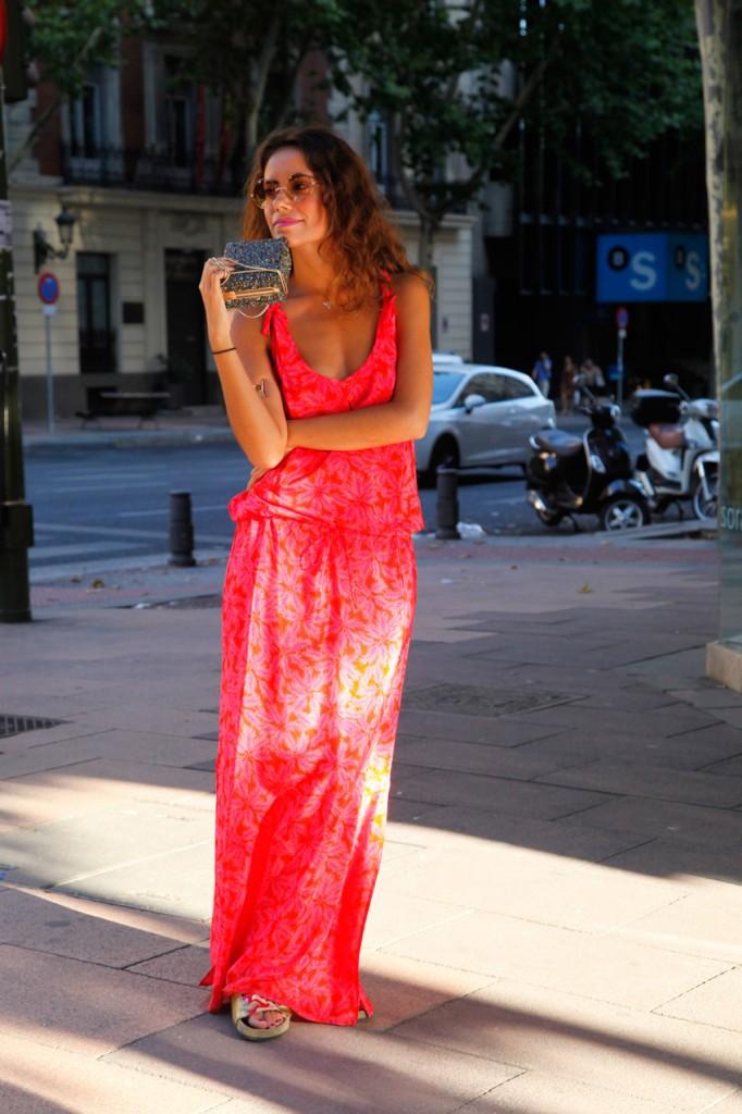 boho long  dress look