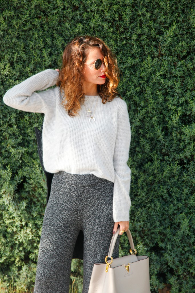 grey knitted