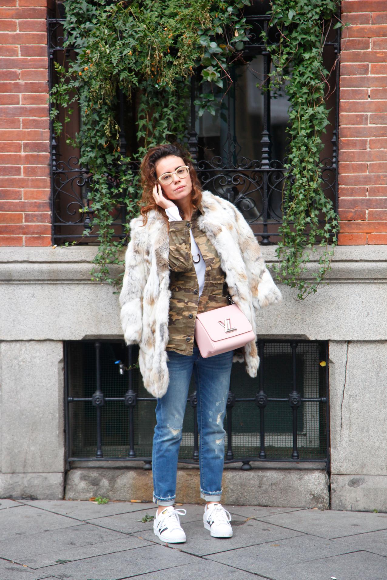 militar jacket, cool lemonade, cozy look, streetstyle, blogger, fashion blog