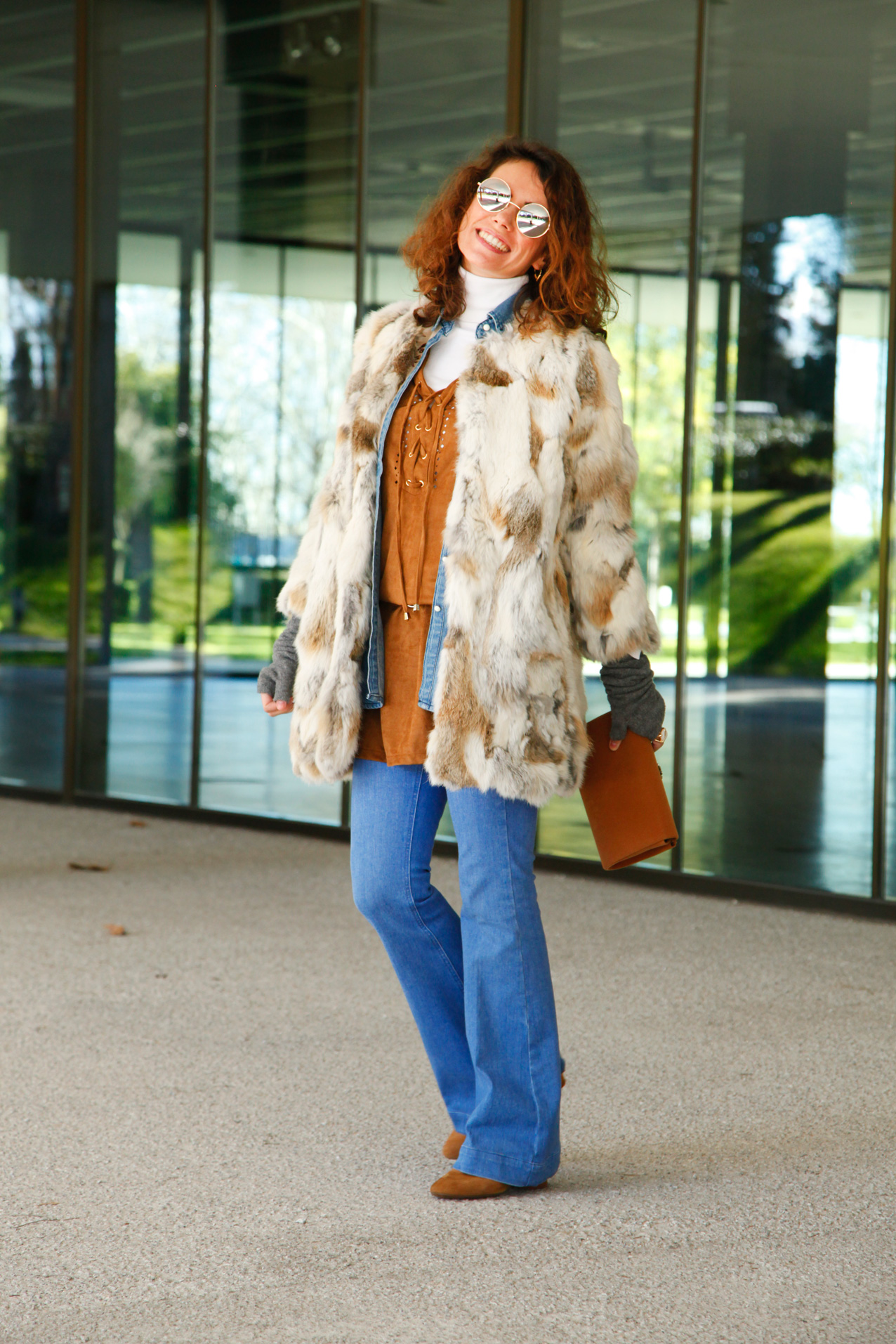 seventies-winter-look-polinetmoi-streetstyle-faux fur coat-cool-lemonade